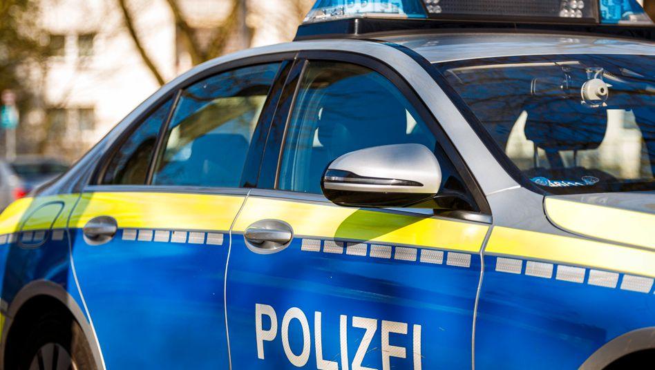 Polizeifahrzeug in Hamburg