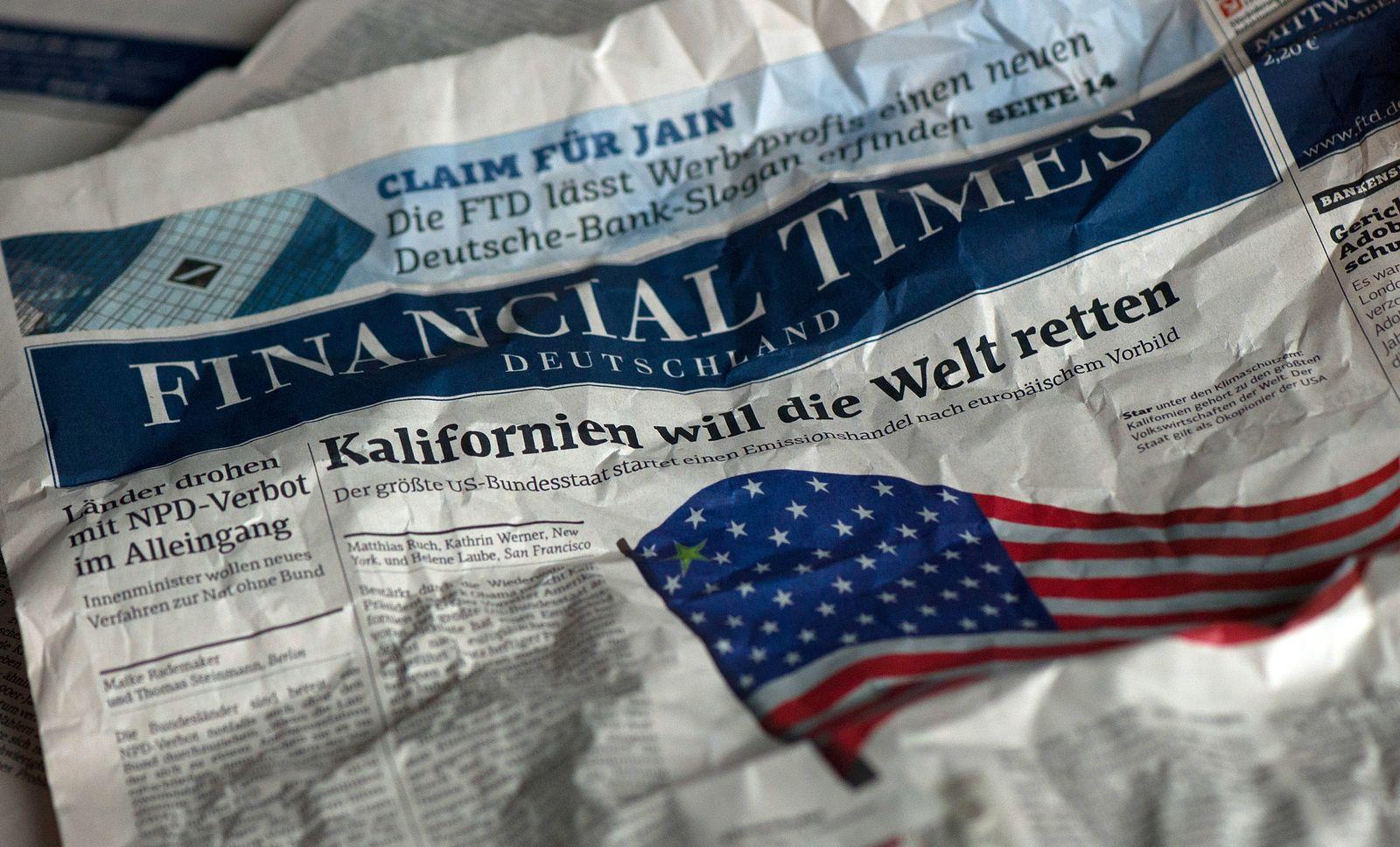 NICHT VERWENDEN Financial Times Deutschland / FTD
