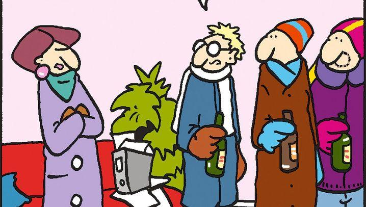 Tom-Comic: Wenn schon Bahn-Saufen, dann richtig