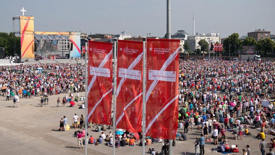 Cannstatter Wasen: Open-Air-Gottesdienst als Abschluss des Kirchentags