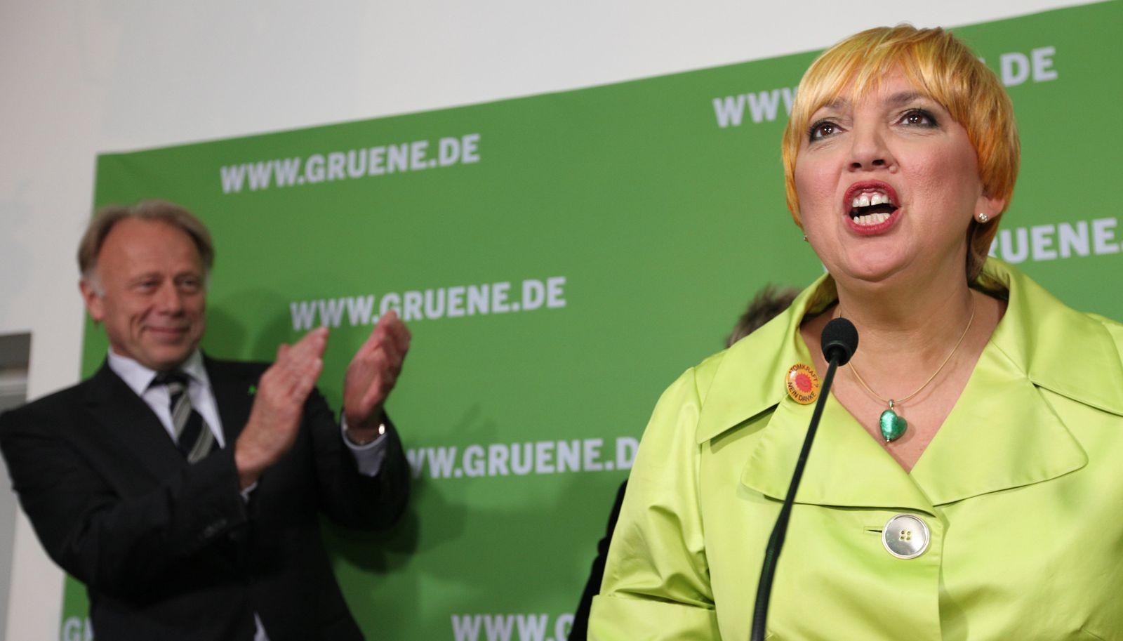 Landtagswahl/ Reaktionen/ Grüne/ Trittin/ Roth