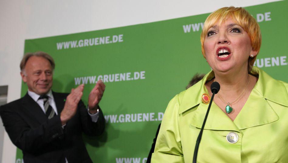Grünen-Spitzenpolitiker Trittin und Roth: Öko-Partei im Umfragehoch