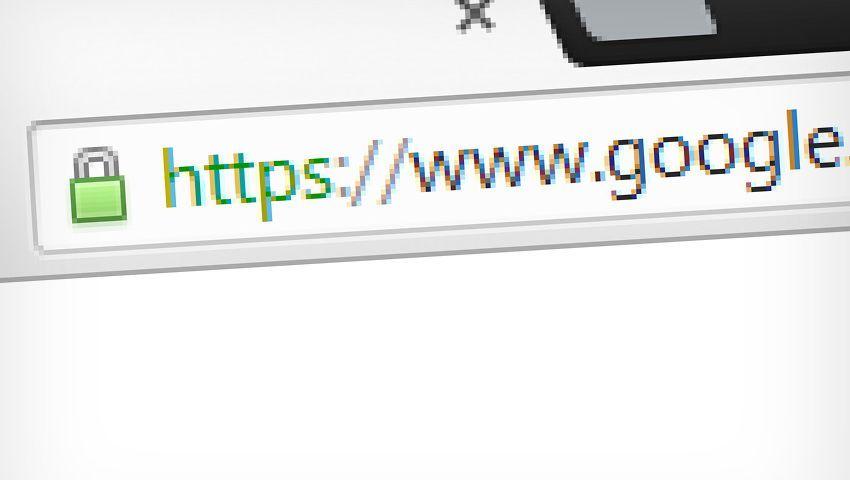 Verschlüsselte Verbindung: Statt http steht in der Adresszeile https