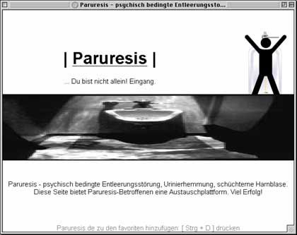 Paruresis.de (Screenshot): Forum für Betroffene