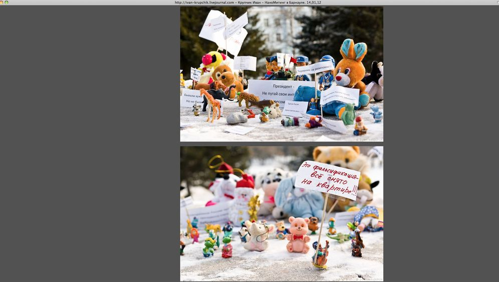 Russlands Opposition: Spielzeugdemonstranten in Sibirien