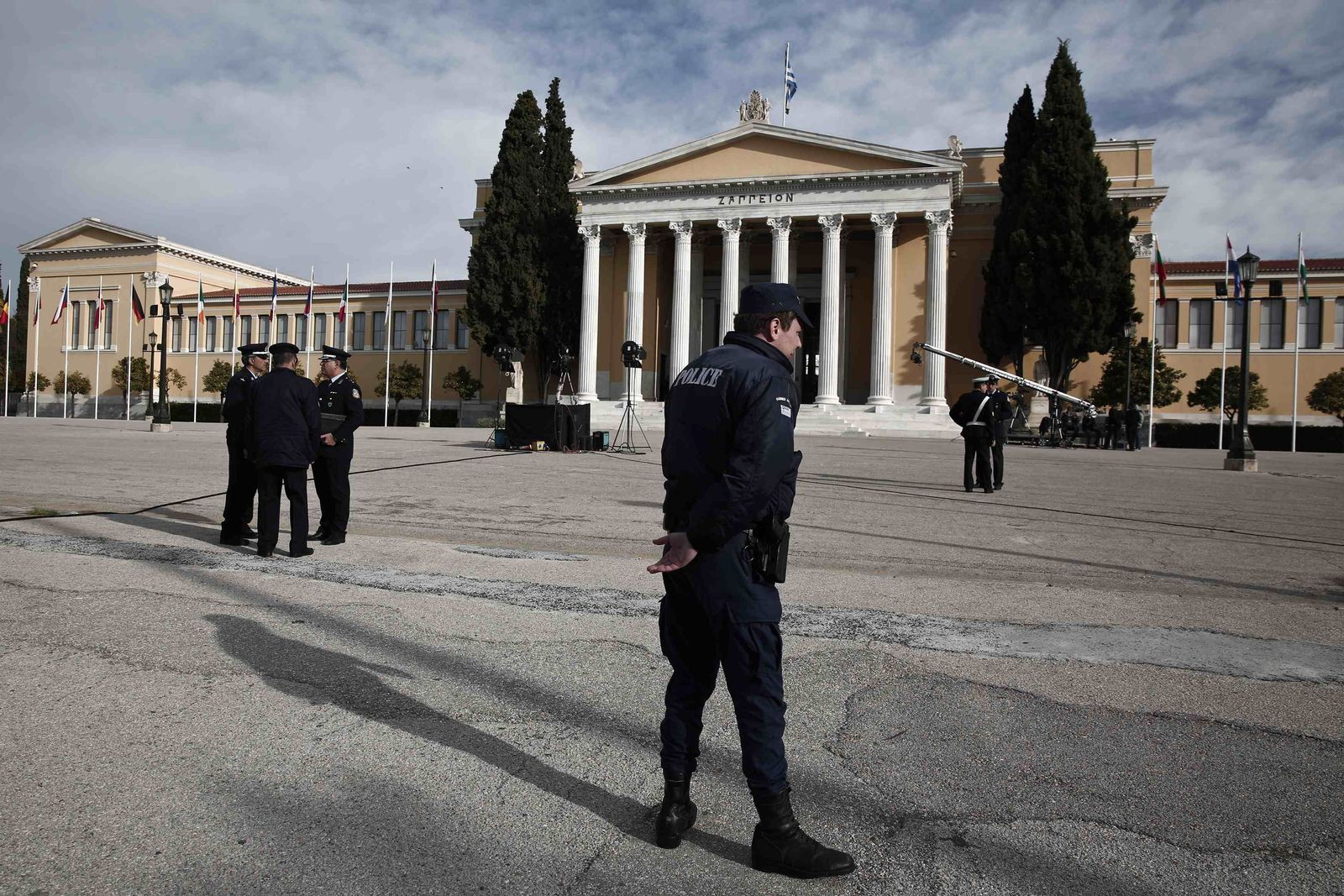 Griechenland Zappeion Athen Gebäude und Soldat neutral