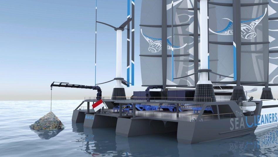 Segelschiff »Manta« (Simulation):Minimaler CO2-Fußabdruck