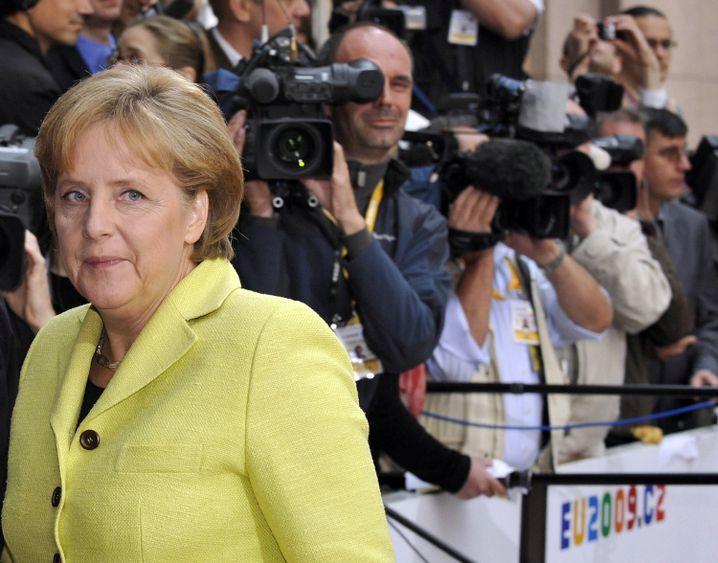 German Chancellor Angela Merkel in Brussels: