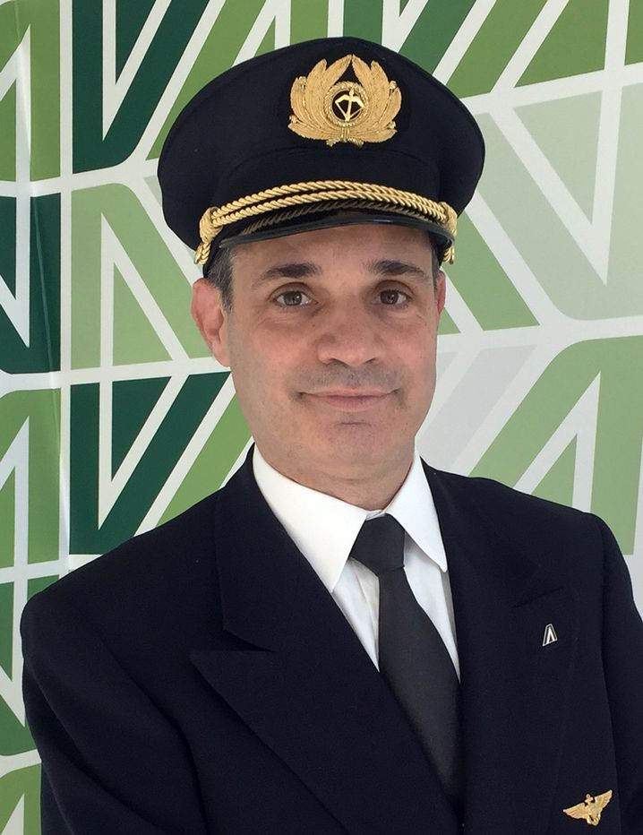 Alberto Colautti, Chefpilot der italienischen Fluglinie Alitalia