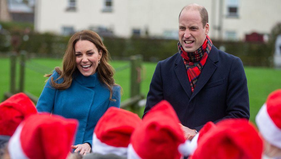 Kate und William beim Treffen mit einer Schulklasse in Berwick-Upon-Tweed
