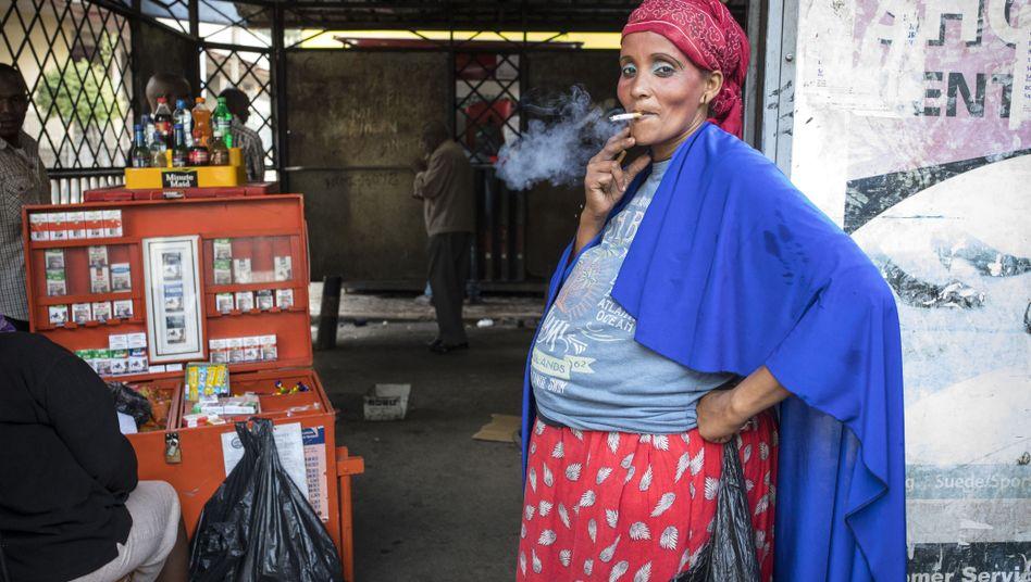 A smoker in Nairobi