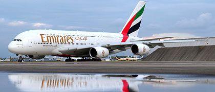 A380 der Emirates: Zu leise zum Schlafen?