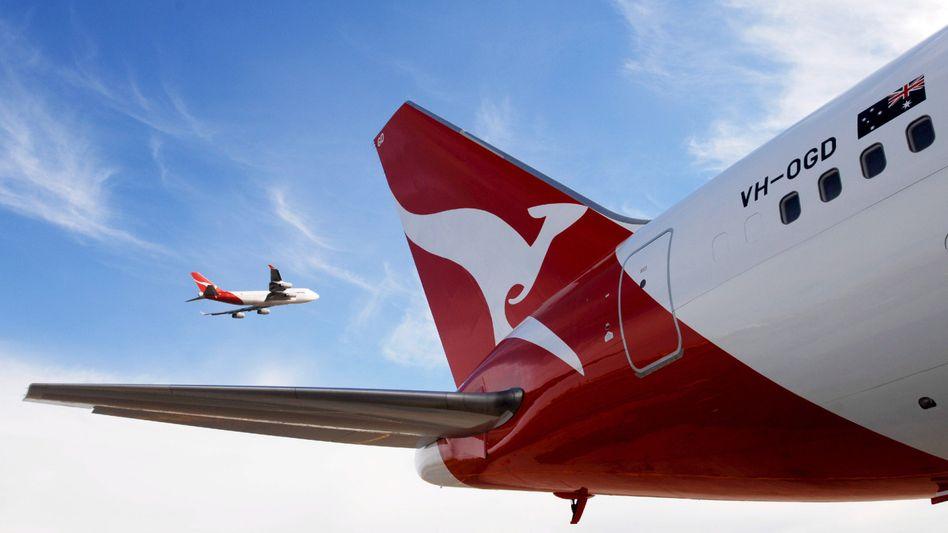 Qantas-Logo (Symbolbild): Sieben Stunden Sightseeing von oben