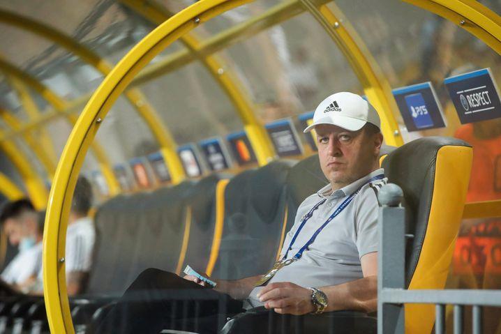 Der Trainer von FC Sheriff Tiraspol, Jurij Wernydub