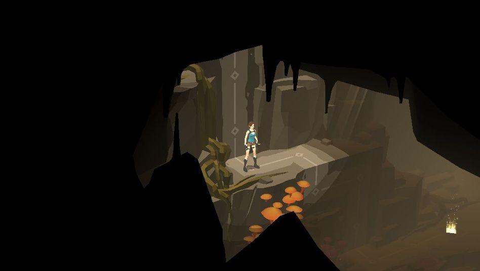 """Einsam in der Dunkelheit: Wie in den ersten """"Tomb Raider""""-Spielen ist Lara Croft während des Abenteuers stets allein unterwegs"""