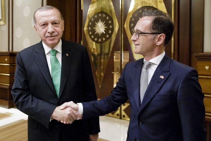 Präsident Erdogan, Außenminister Maas