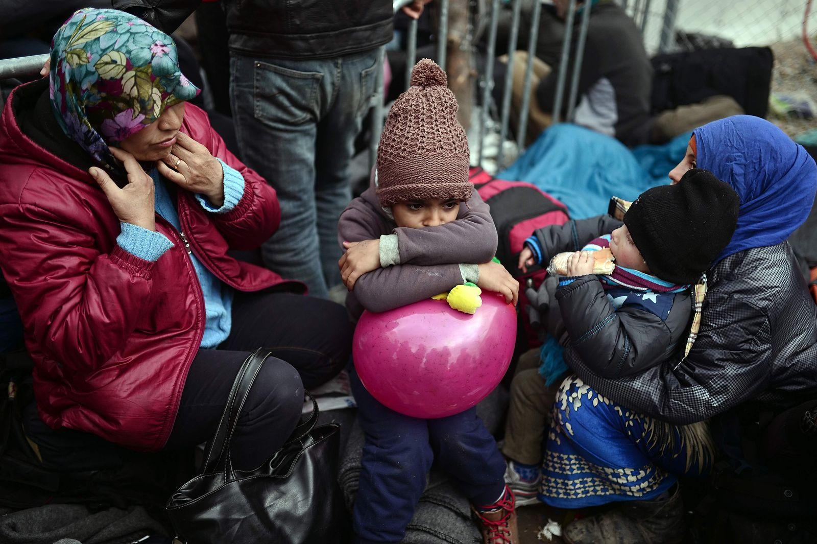 Flüchtlinge / Grenze / Griechenland / Mazedonien