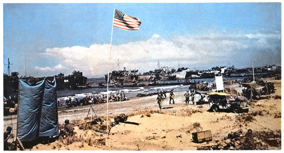 The invasion of Normandy on June 6, 1944
