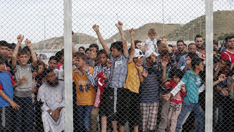 Syrische Flüchtlingskinder in der Türkei (April 2016)