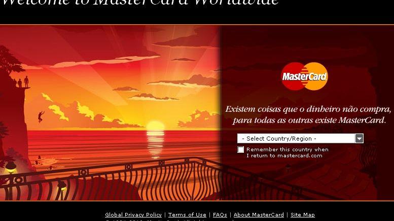 Mastercard-Web-Seite: Aktuell so gut wie unerreichbar