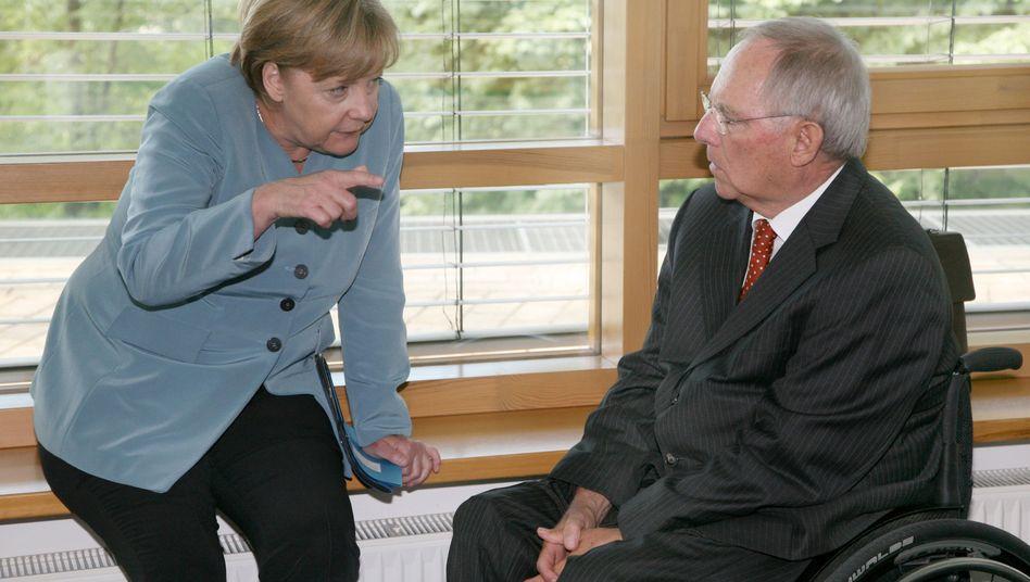 Merkel und Schäuble am Montag im CDU-Präsidium: Wohin in der Griechenlandkrise?