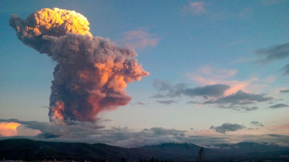 Vulkan Tungurahua: Die Aschewolke breitete sich bis in die Hauptstadt Quito aus