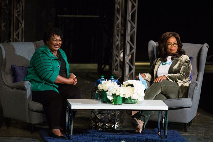 Abrams mit TV-Star Oprah Winfrey