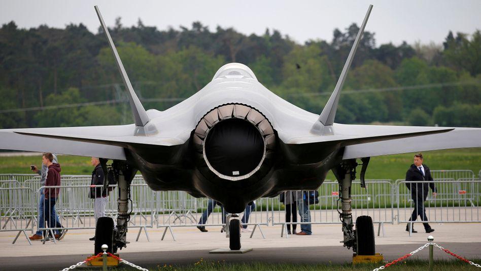 Dieser F-35-Jet war im April 2018 bei der Internationalen Luft- und Raumfahrtausstellung in Berlin zu sehen