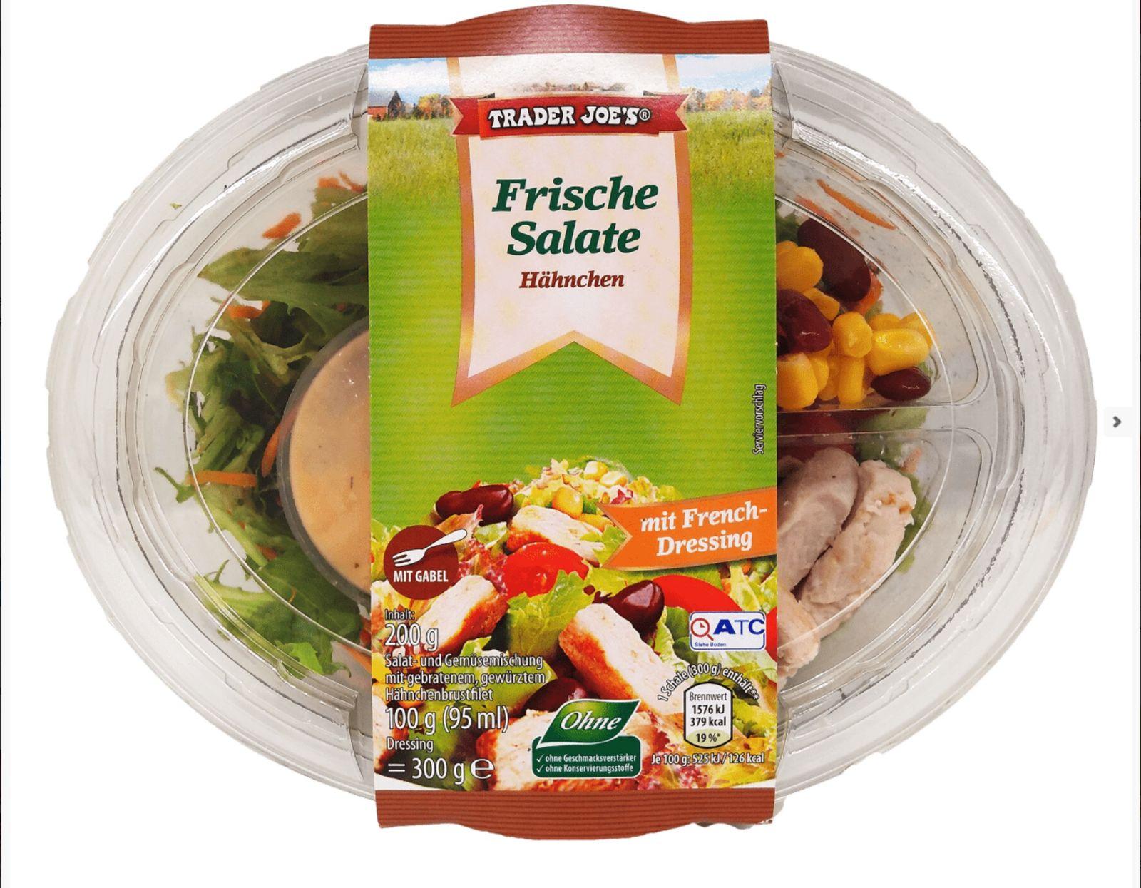 EINMALIGE VERWENDUNG Rückruf Hähnchensalate