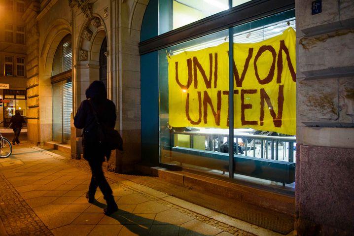Protest an der Humboldt-Universität (im Januar 2017)