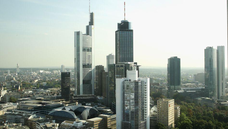 Skyline von Frankfurt am Main: Gute Stimmung an der Börse