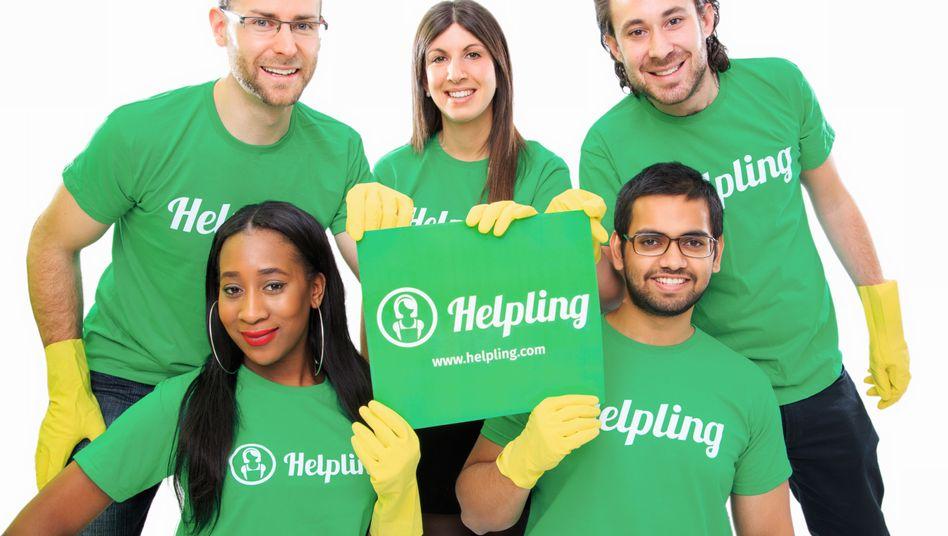 Helpling-Werbung: Agentur für Reinigungskräfte als Geschäftsidee