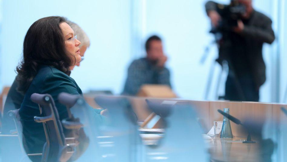 Bundesarbeits- und -sozialministerin Andrea Nahles