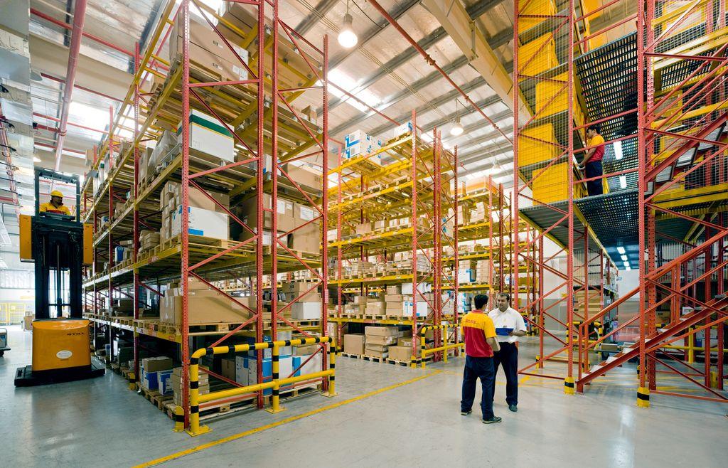 Regallager Supply Chain, DHL, Deutsche Post