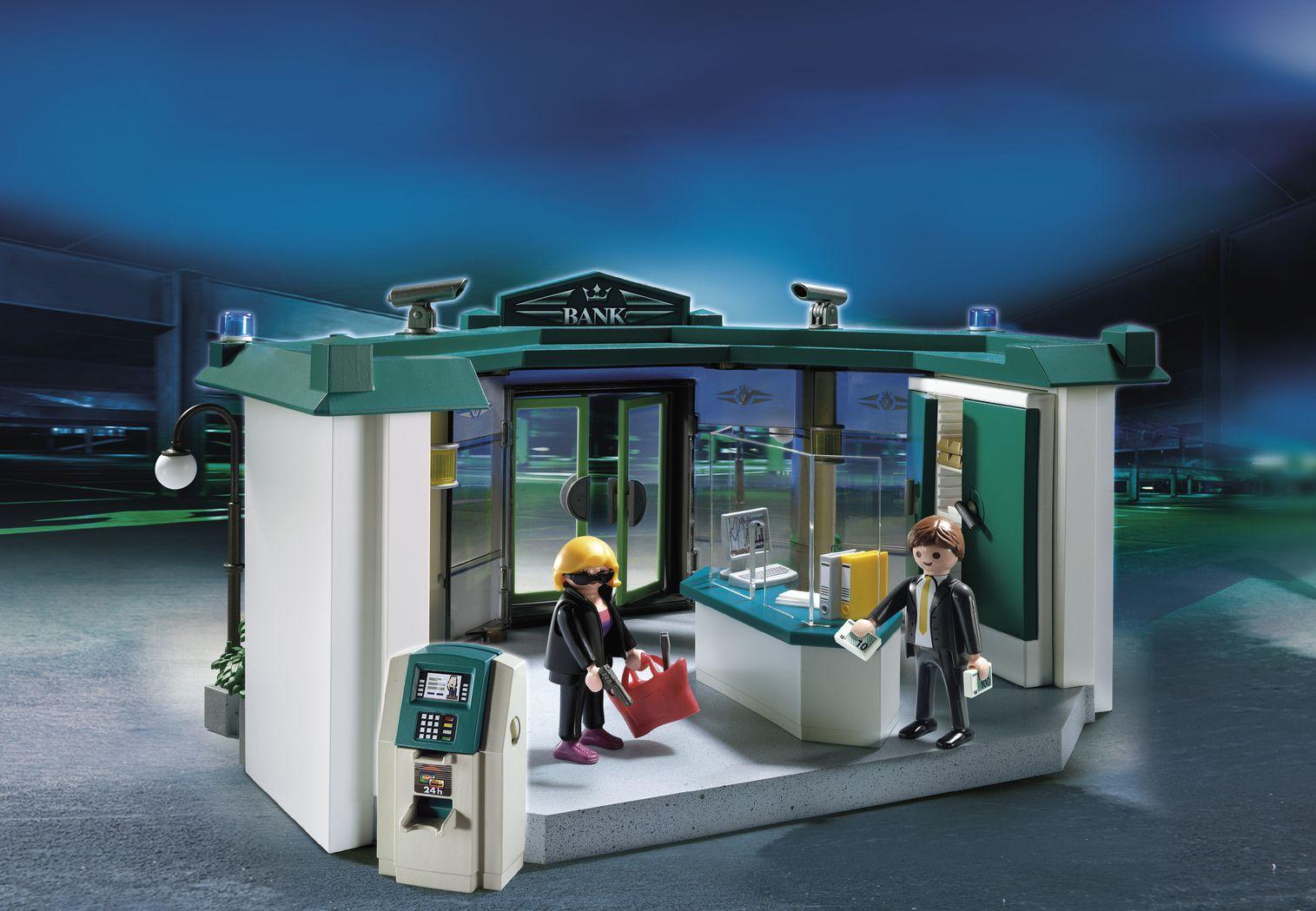 EINMALIGE VERWENDUNG Playmobil/ Bank mit Geldautomat
