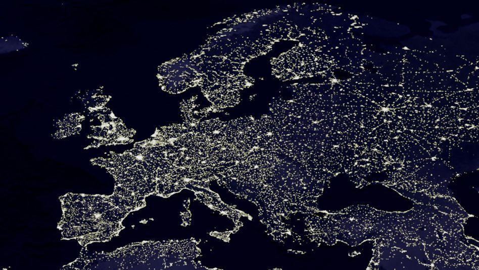 Satellitenbild von Europa: Die politische Landschaft ändert sich