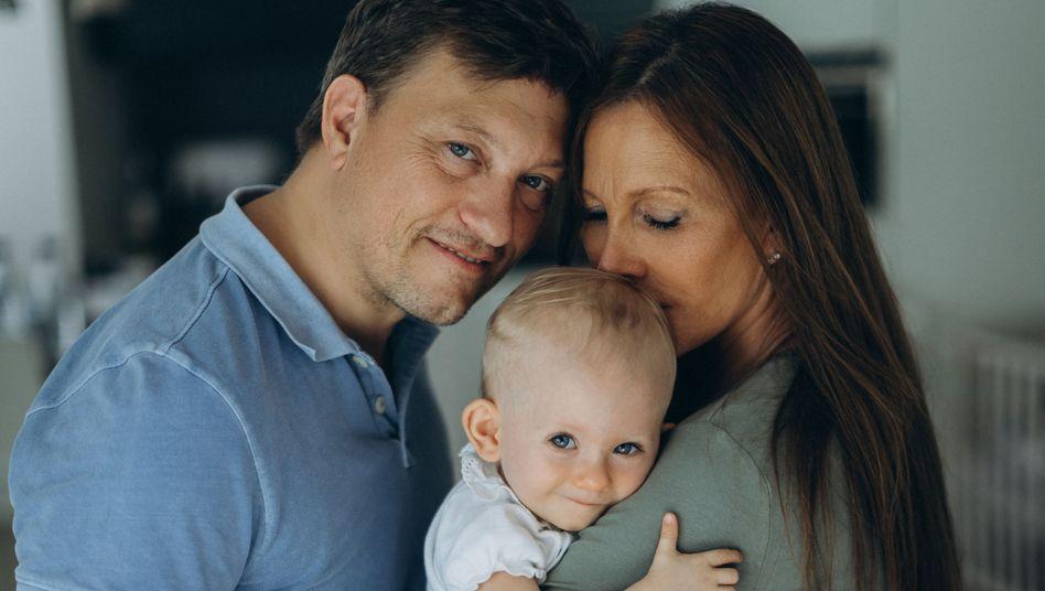 Thomas Bassauer und Dagmar Michalsky mit ihrer Tochter Maxine