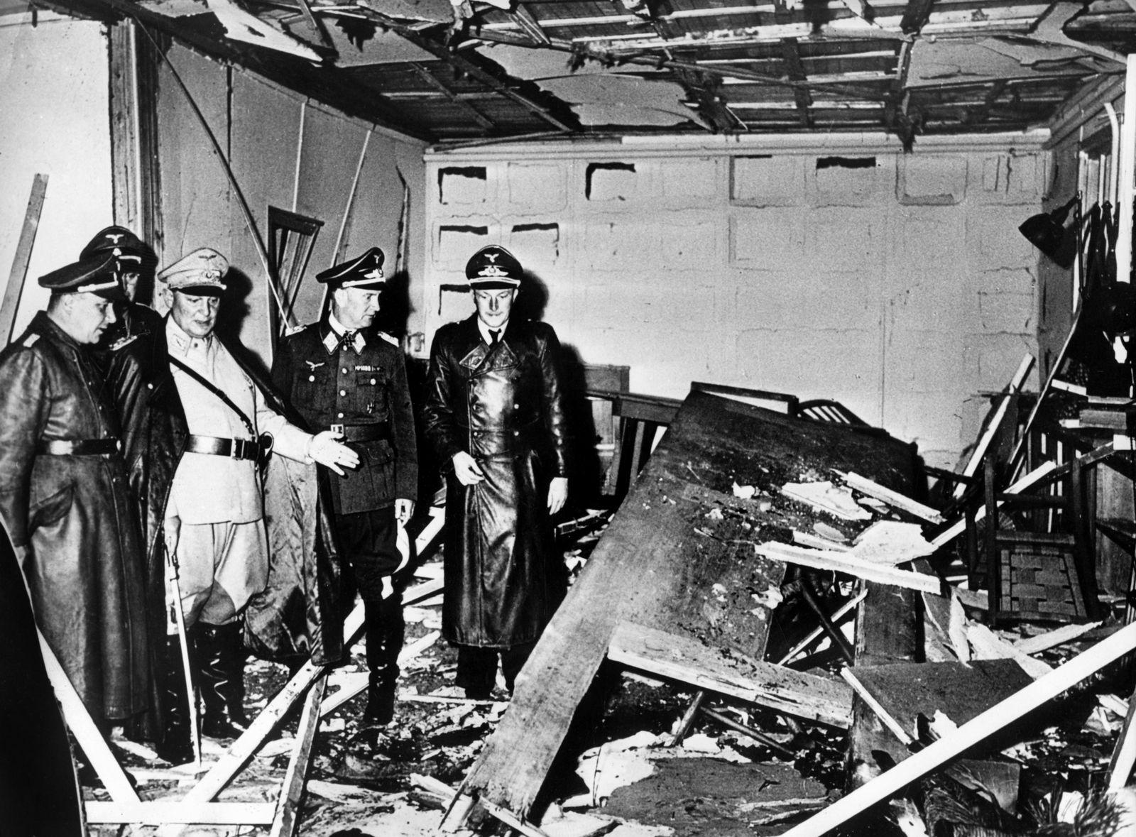 Hitler-Attentat / Wolfsschanze / Zerstörte Baracke