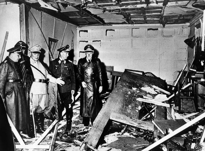 Das Führerhauptquartier nach dem Attentat von Stauffenberg