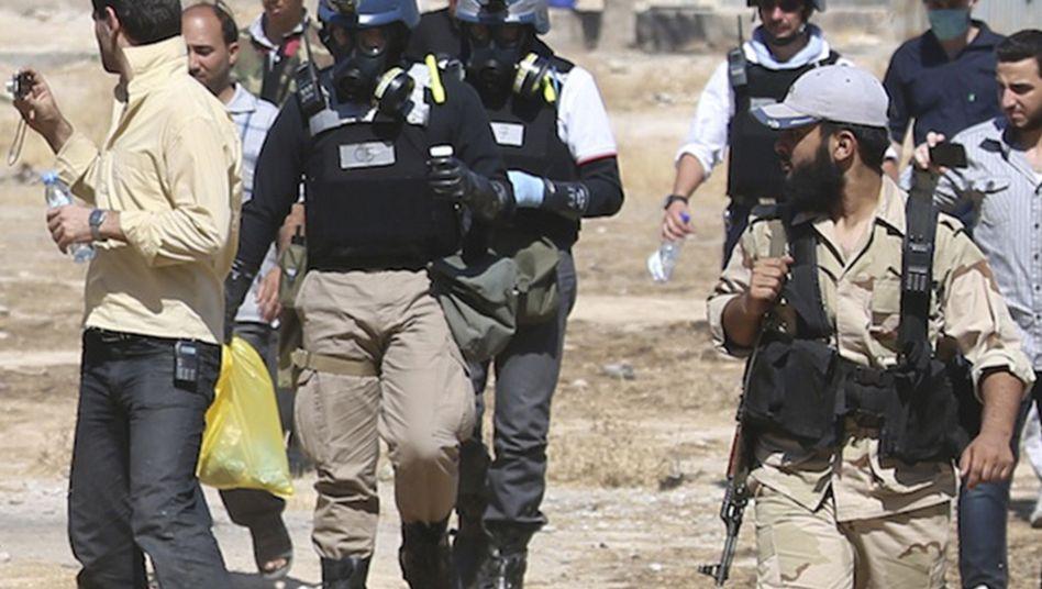 Uno-Team in Syrien: Deutschland lieferte Chemikalien