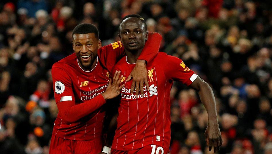 Georginio Wijnaldum (l.) und Sadio Mané (r.) trafen für Liverpool