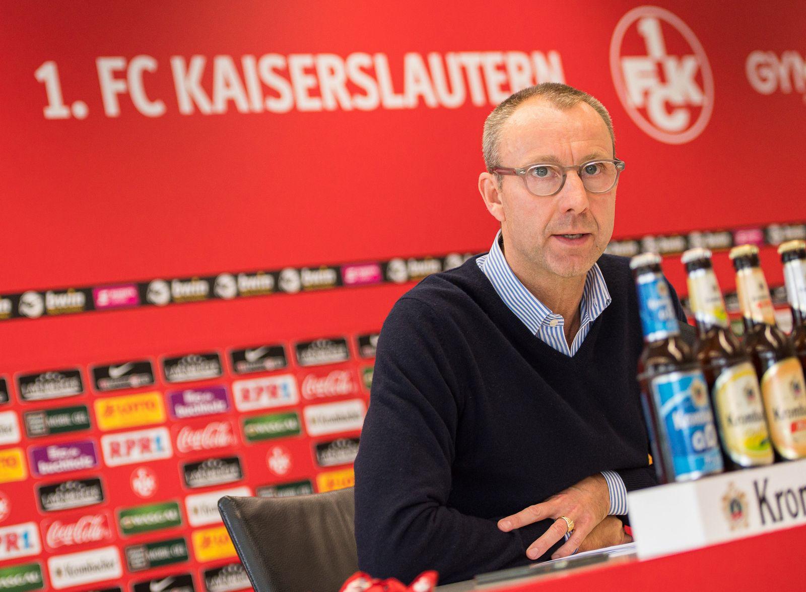Pressekonferenz zum Insolvenzantrag des FCK