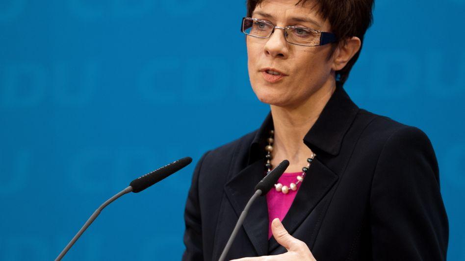 """Saarländische Ministerpräsidentin Kramp-Karrenbauer: Das Land will """"stabile Verhältnisse"""""""