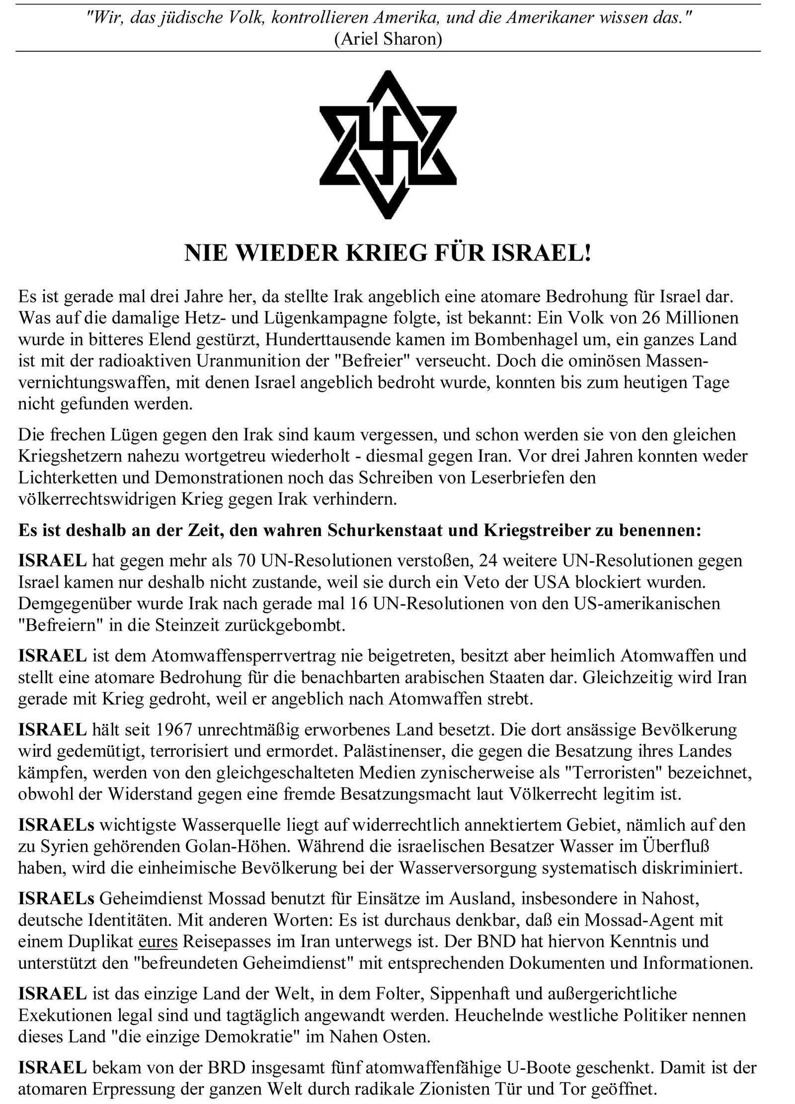 NUR ALS ZITAT Flugblatt Linke Duisburg