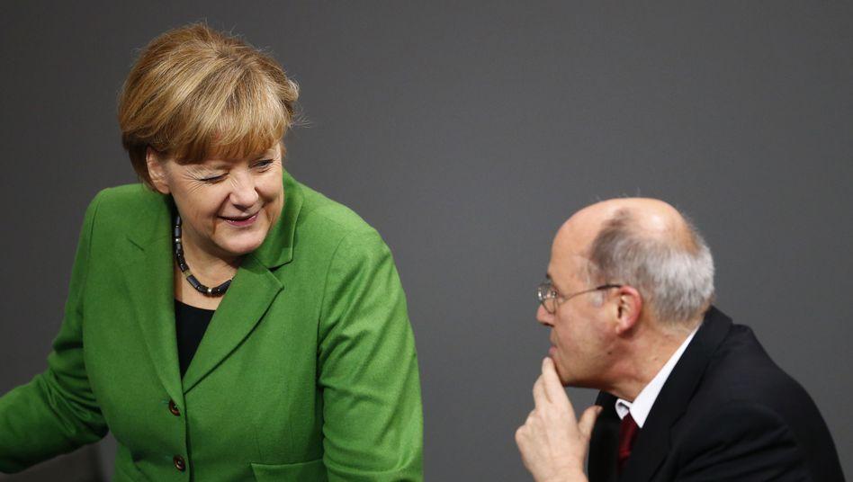 Kanzlerin Angela Merkel, Linken-Politiker Gregor Gysi (2013)