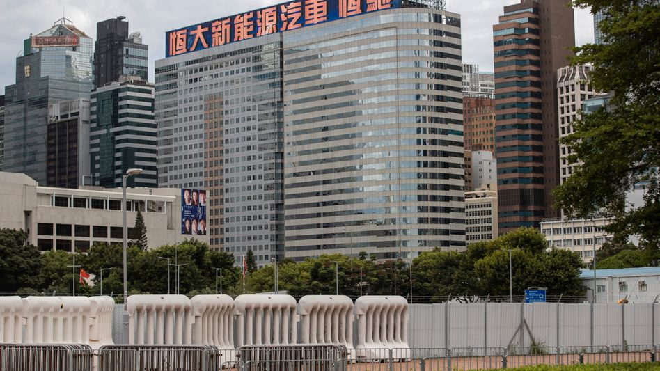 Evergrande-Zentrale in Wanchai: Zahlungsausfall erwartet