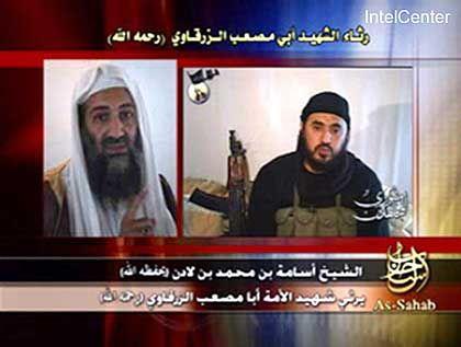 Standbild der neuen Bin-Laden-Botschaft: Lob für Sarkawi