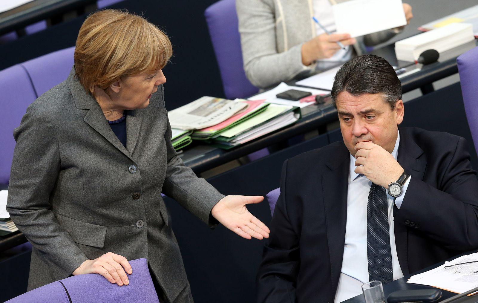 Bundestag Gabriel Merkel