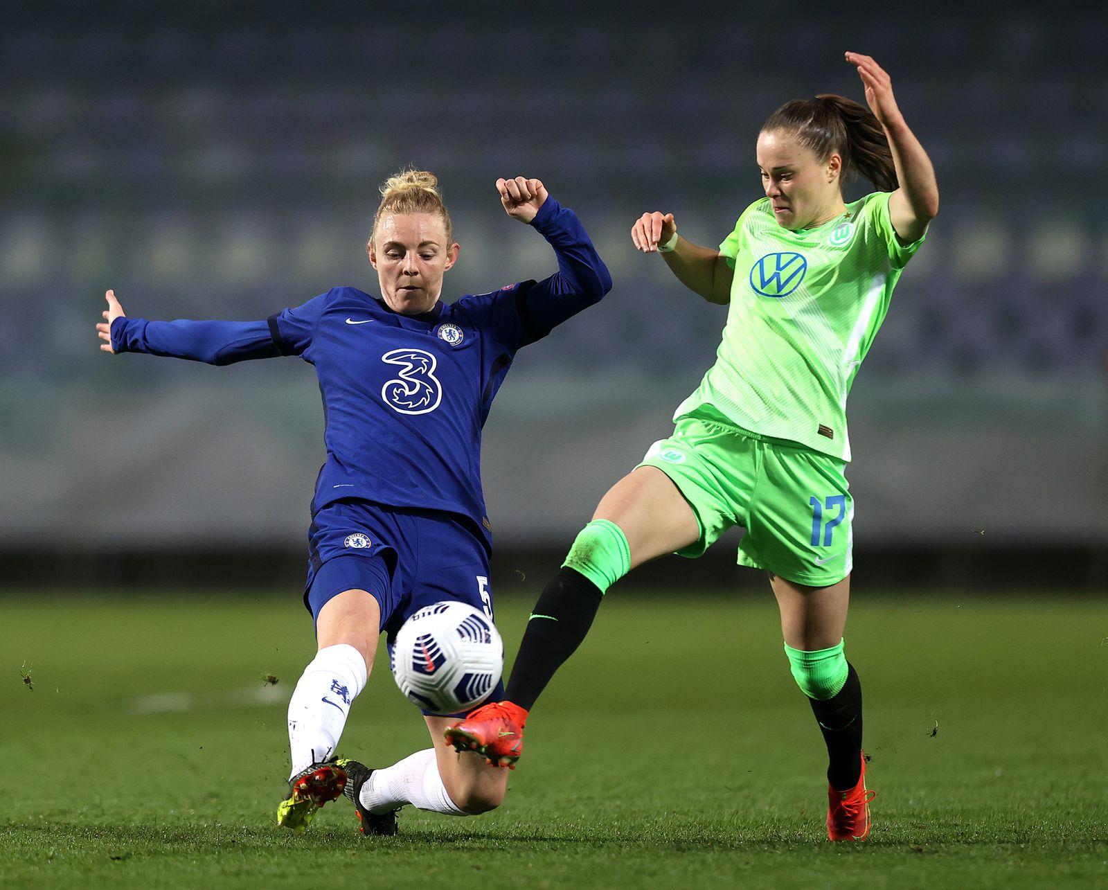 Chelsea FC v VfL Wolfsburg - UEFA Women's Champions League Quarter Final: Leg One