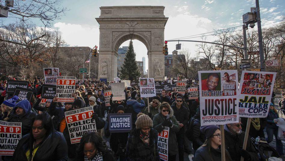 Demonstration gegen Polizeigewalt in New York: Empörung auf den Straßen